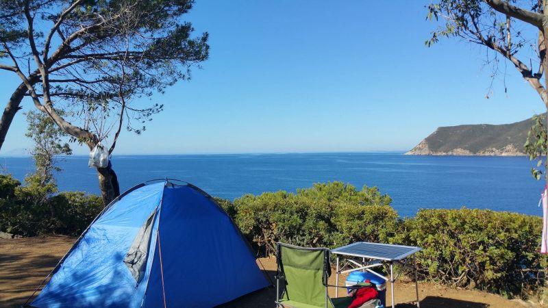 Campeggio all'isola d'Elba